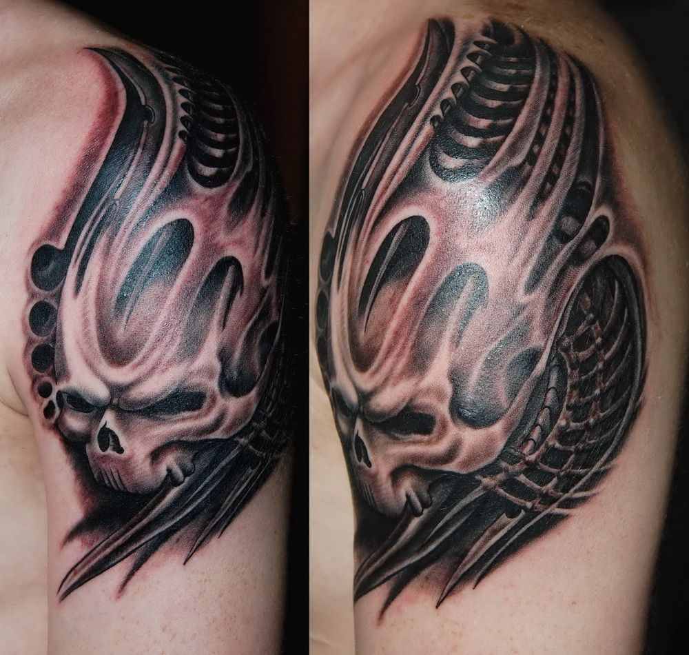 Hr giger tattoo designs - Find This Pin And More On Biomech Small Heart Tattoo