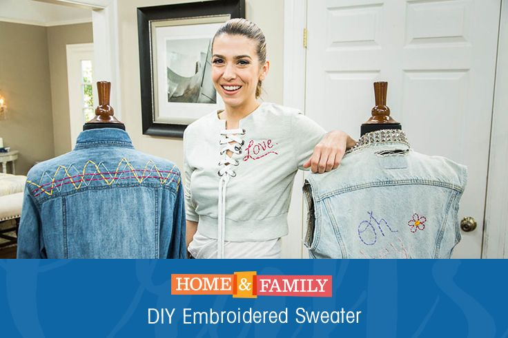 DIY Embroidered Sweater - Add your own personal touch to an old ...