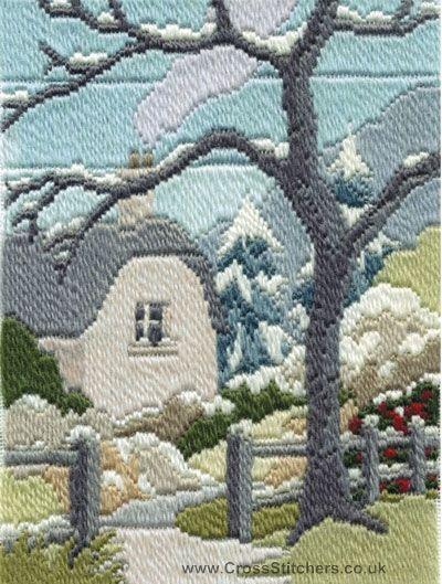 Winter Garden Longstitch Needlepoint Kit By Derwentwater Designs