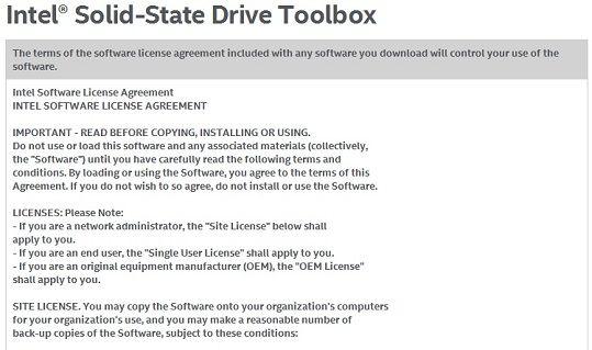 インテル® ハイパフォーマンス Solid-State Drive — Intel® SSD Toolbox のインストール