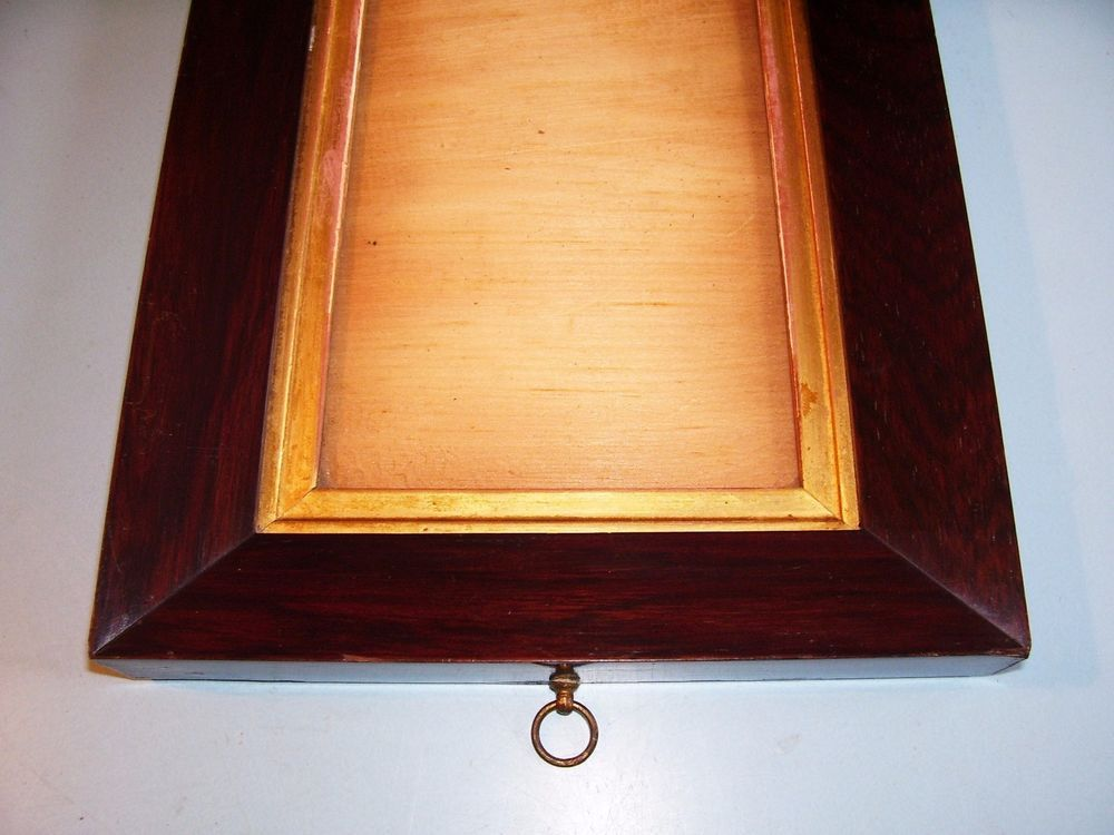 Small Antique Georgian Rosewood Sully Gilt Slip Picture Frame Old