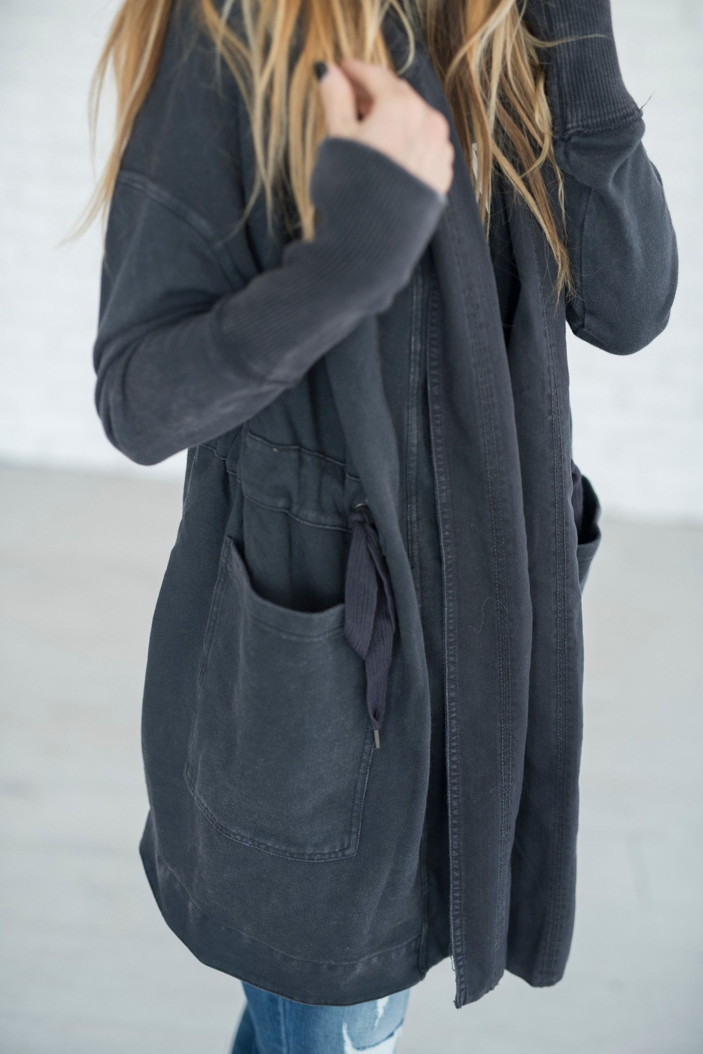 In an oversized, shapeless silhouette, this so-soft hooded ...