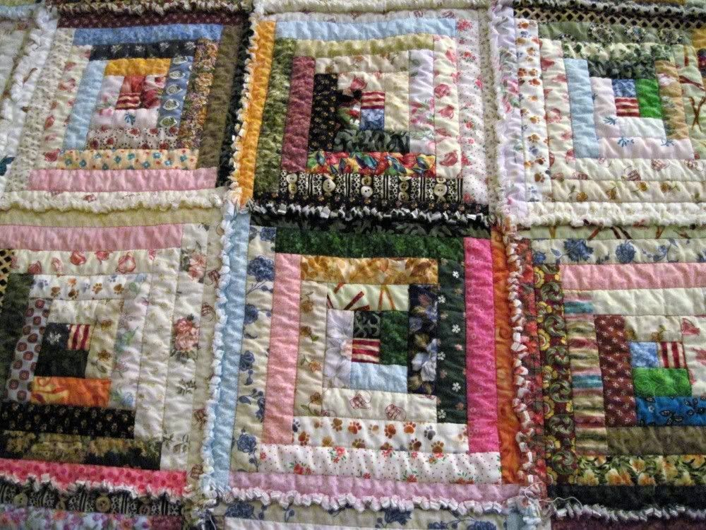 Merveilleux Log Cabin Rag Quilt Photo: This Photo Was Uploaded By Mickeylayne. Find  Other Log