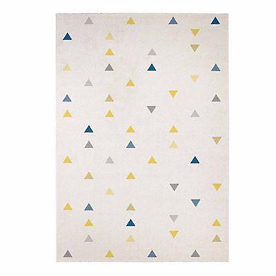 Tapis beige à motifs triangles 160x230cm cabriolet décoration maison et objets décoration grands tapis décoration intérieur
