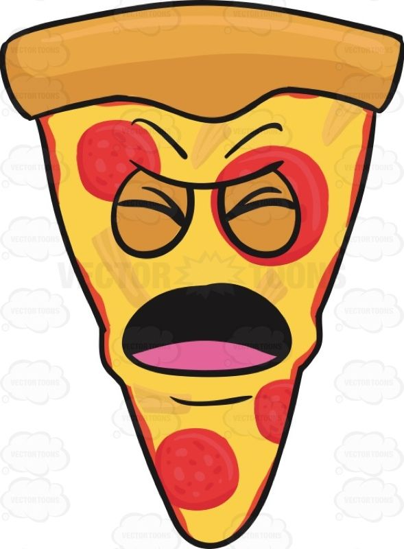 Slice Of Pepperoni Pizza With Nagging And Screaming Look On Face Emoji Americanpizza Angry Call Caricature Cart Happy Emoticon Pizza Funny Black And White
