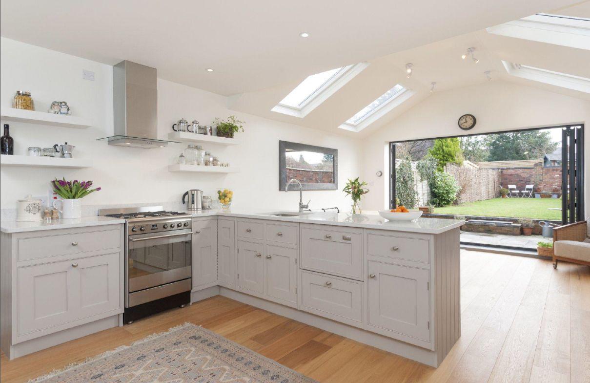 kitchen - shaker style grey putty   Widney road kitchen   Pinterest