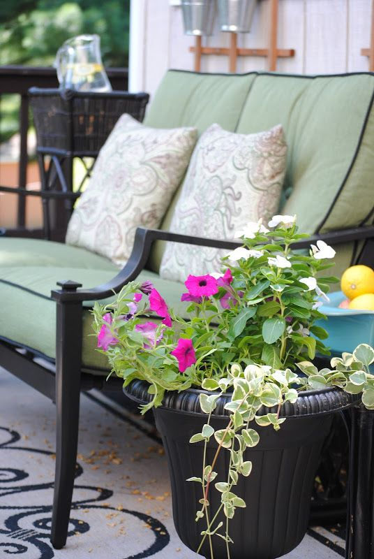Diy Vertical Herb Garden Trellis Wall, Flowers, Gardening, Outdoor  Furniture Bought On Sale Spruced This Corner Up And Provided An Outdoor  Living Room For ...