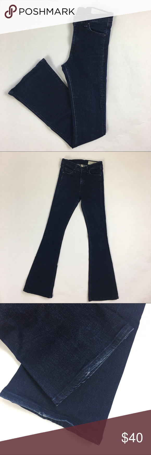 "Rag & Bone High Rise Bell Bootcut Jeans Rag & Bone High Rise Bell Bootcut Jeans.  Size 27.   ▪️Waistband:  24"" ▪️Rise:  9"" ▪️Inseam:  32 ▪️Condition: excellent - normal wear, refer to photos    No trades. Offers warmly welcomed rag & bone Jeans Boot Cut"