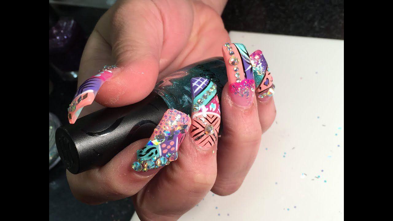 49 Short Square Round Acrylic Nail Designs Awimina Blog Rounded Acrylic Nails Luxury Nails Square Nails