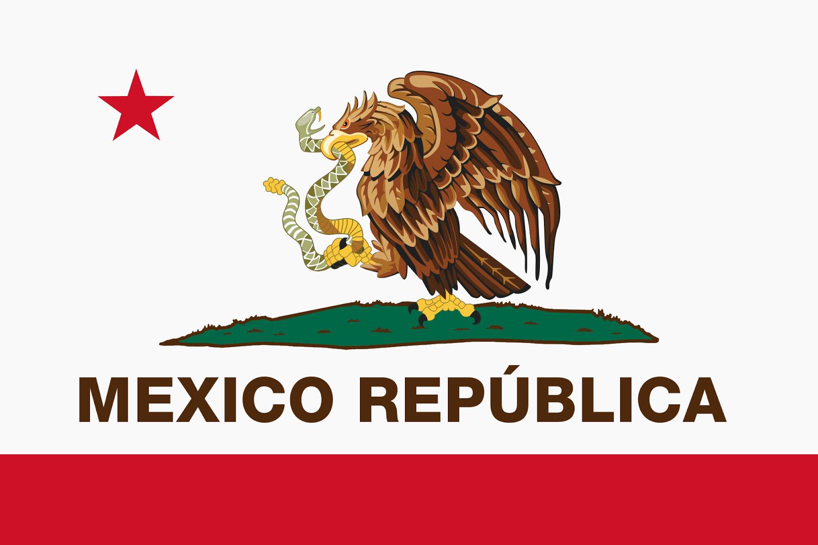 Mexico Republica California Flag Bear Flag Museum