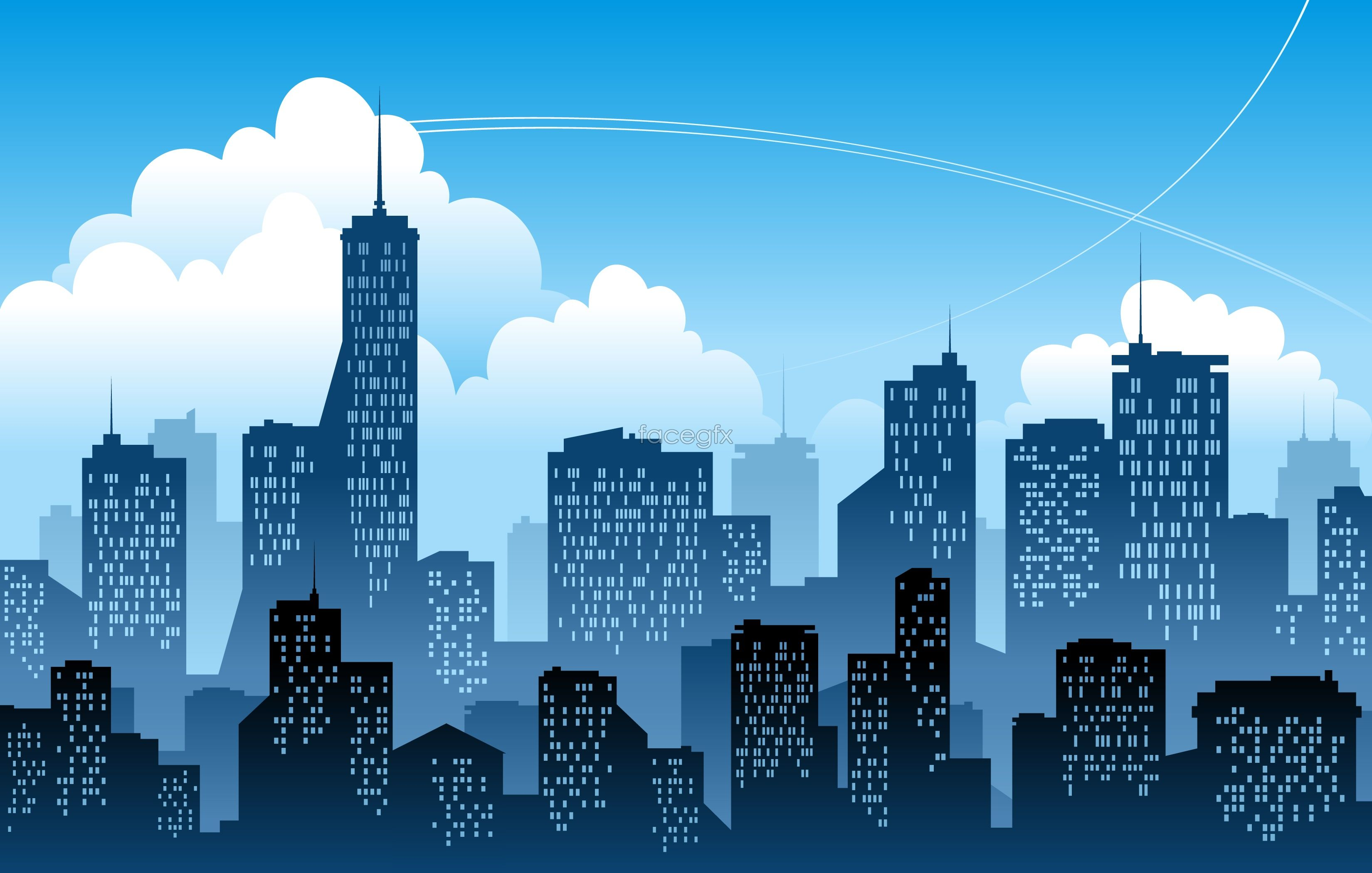 The City Silhouette Vector For Free Download City Silhouette City Vector City Illustration