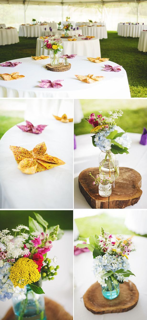 Simple Easy Inexpensive B C Just Folded Fancy Napkins But Still Pretty With The Summer Colors