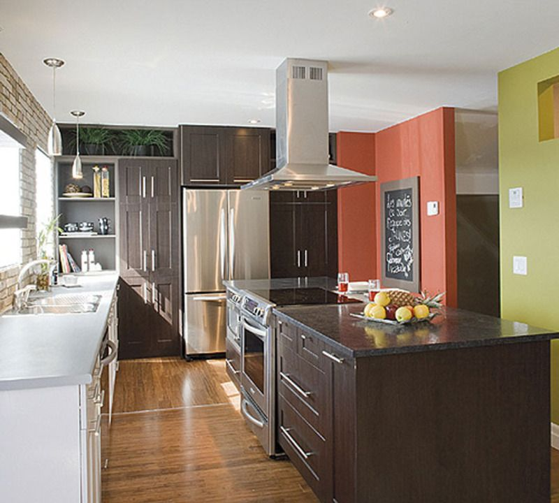 Small Galley Kitchen Ideas Design Inspiration: Marvelous Kitchen Layout Inspiration With White And Black