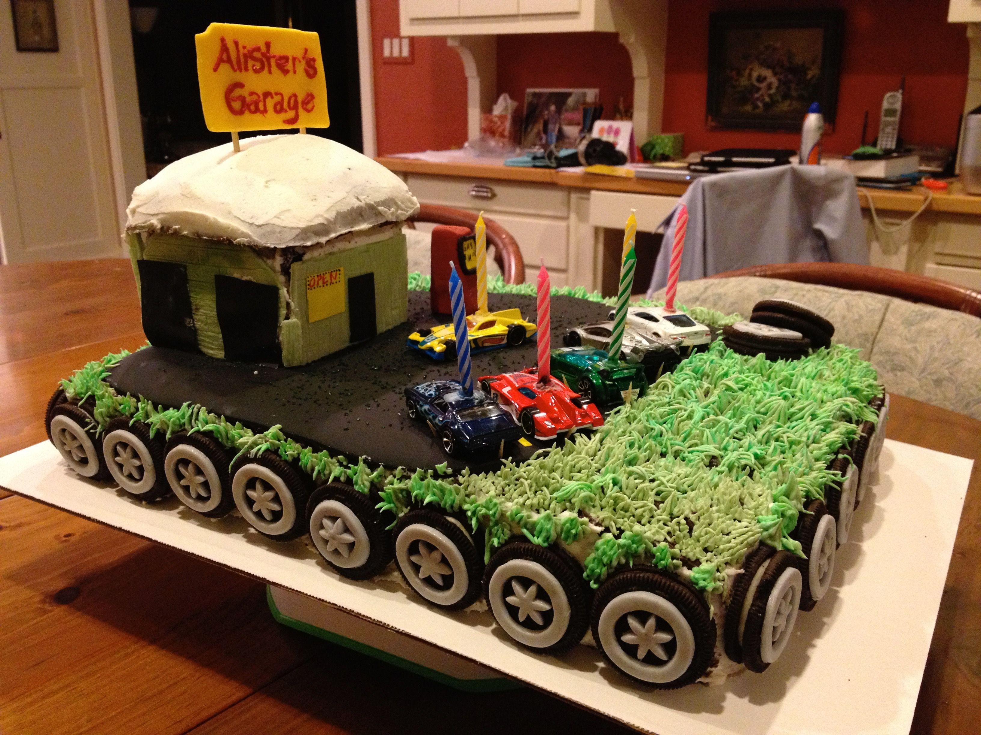 Car Garage Cake My Cakes Pinterest Car garage and Cake