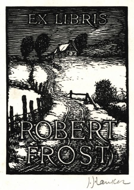 Bookplate Estate ≡ vintage ex libris labels︱artful book plates - Robert Frost Bookplate by J.  sc 1 st  Pinterest & LANKES JULIUS J. (1884-1960) USA for Robert Frost. Bookplate ...