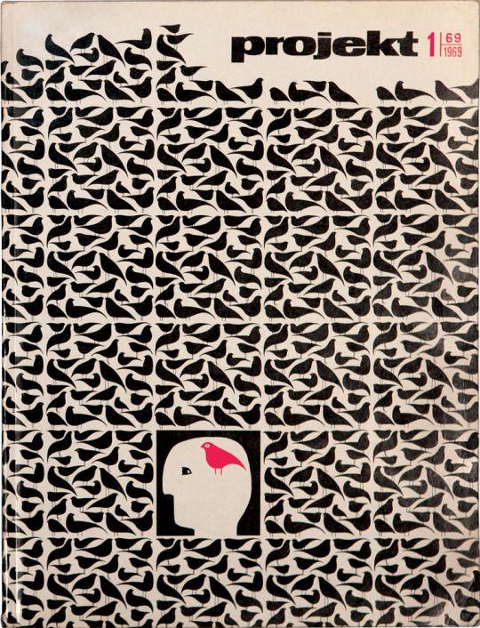 Hubert Hilscher, cover of Projekt No.1, 1969. Poland