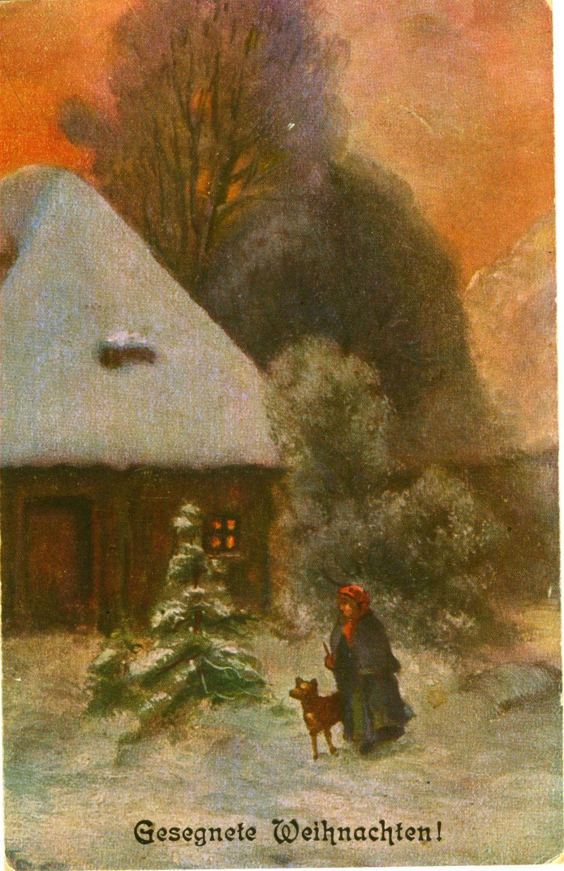 Frohe Weihnachten auf einer alten Ansichtskarte!   Merry Christmas on a old postcard!