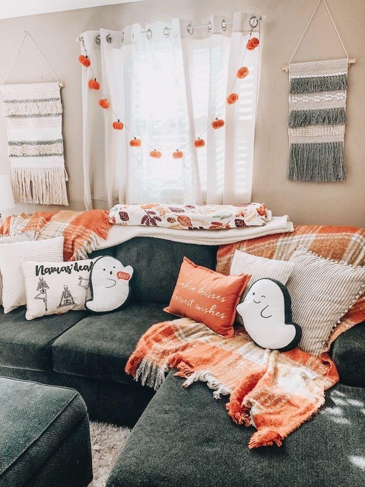 Spooky home decor ghost pillows