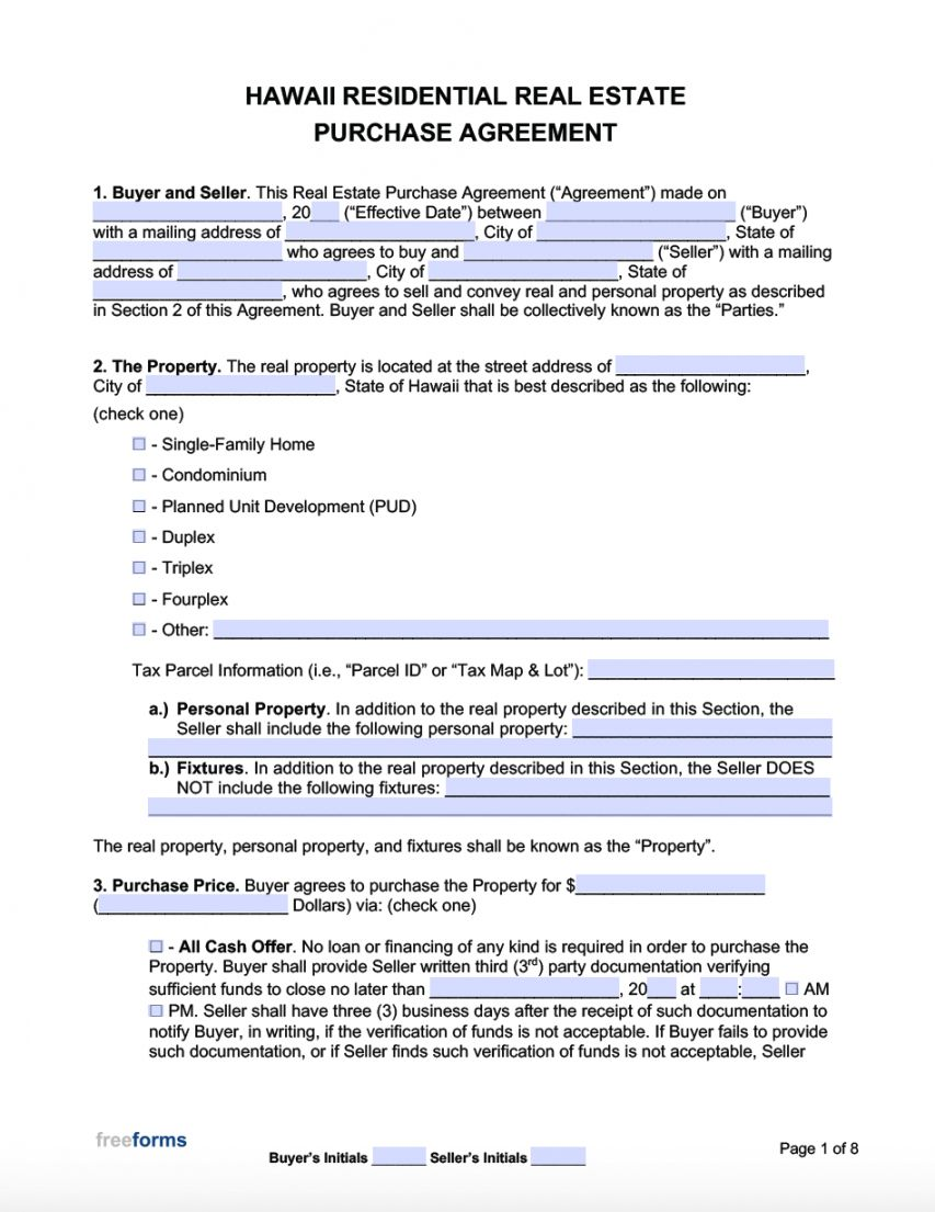 Free Free Hawaii Real Estate Purchase Agreement Template Pdf Property Sale Agreement Templat In 2021 Indiana Real Estate Purchase Agreement Power Of Attorney Form Real estate development agreement template