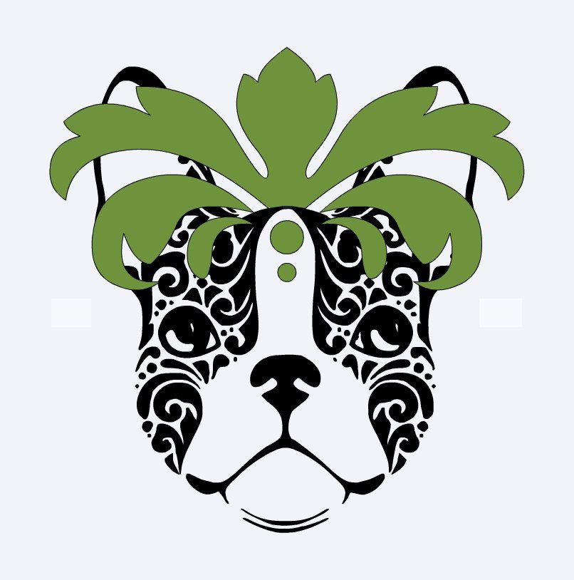 Tropische französische Bulldogge von alloverthegalaxybee auf Etsy