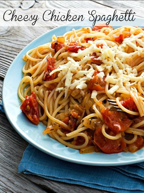 This recipe for Cheesy Chicken Spaghetti is so easy and delicious. I love making it on a weekday evening when I need something the kids love...
