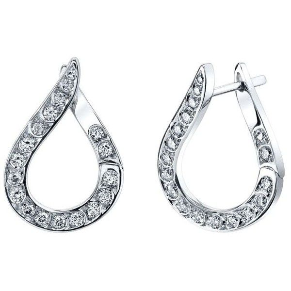 Women's Diamond Earrings by Harry Kotlar Kotlar 1948 White Gold... ($2,795) ❤ liked on Polyvore featuring jewelry, earrings, silver, white gold diamond earrings, rose diamond earrings, earrings jewelry, rose jewelry and white gold jewellery
