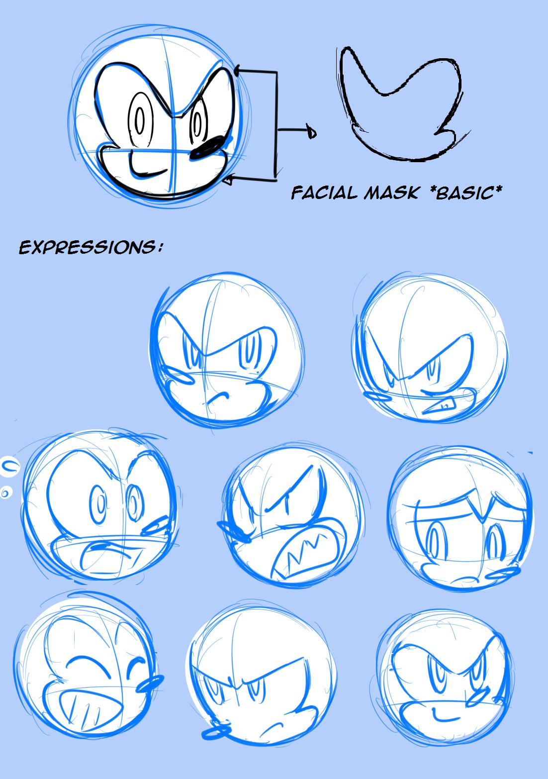 Sonic Skyline Face Tutorial By Drawloverlala How To Draw Sonic Sonic Art Sonic Fan Art