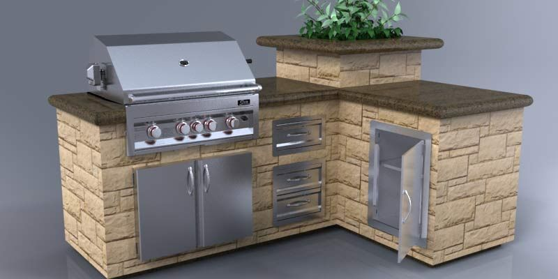 Backyard Barbeque Designs Grills Side Burners Doors Drawers Bbq Components Parts Outdoor Kitchen Bbq Island Outdoor Yard Ideas