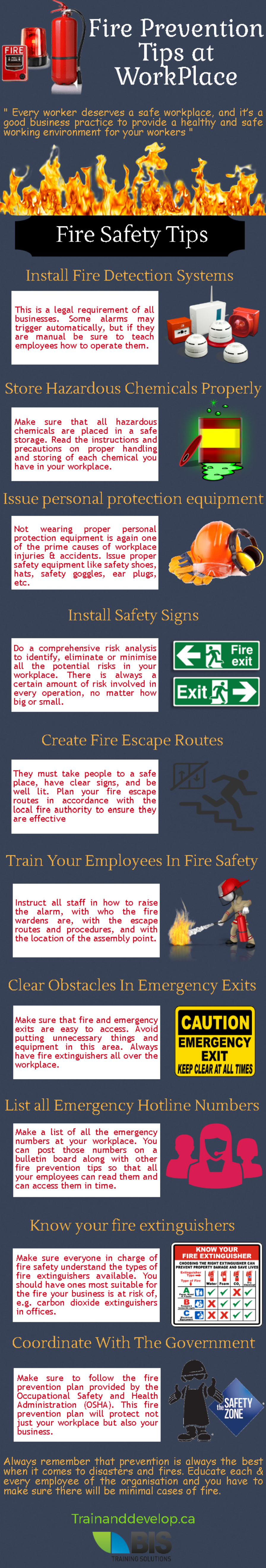 Fire prevention tips at workplace fireprevention safety