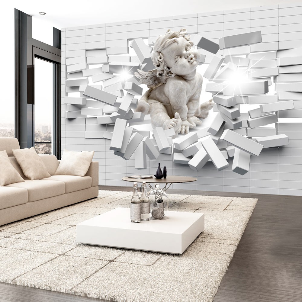 Wallpaper Modern Cherub With Images 3d Wallpaper Mural Mural Wallpaper 3d Wallpaper
