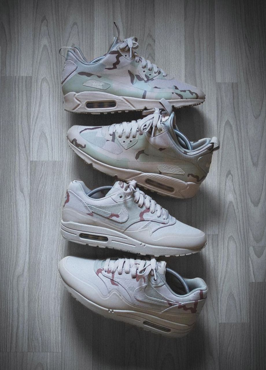 new styles 47399 a8cbe Nike Air Max 90 Sneakerboot MC SP 'Desert Camo' & Nike Air Max 1 SP 'Desert  Camo' - 2014 (by smileymalone) Clean and care for your sneakers with shoe  trees ...