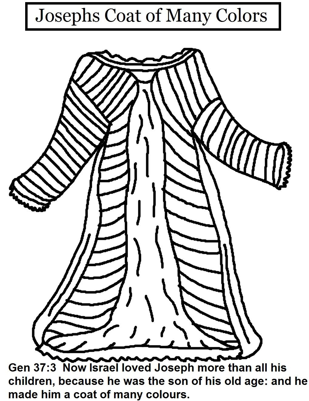 Sunday School Coloring Pages Joseph. Coat of Many Colors  coloring sheet week 6 Joseph s