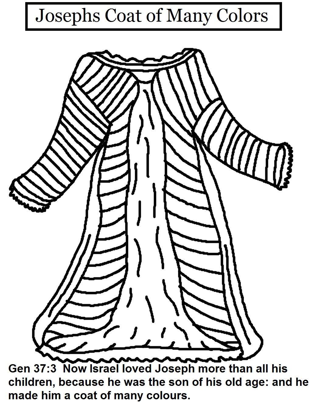 Coat Of Many Colors Coloring Sheet Week 6
