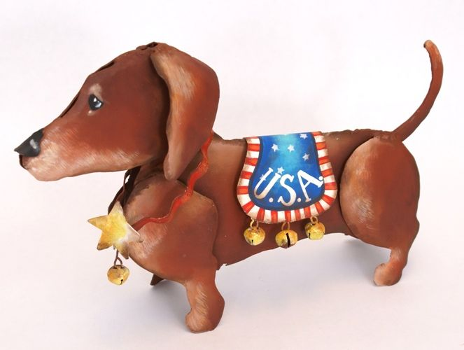 Patriotic Dachshund Dog From The Round Top Collection Hearts Desire Gifts Patriotic Dog Dachshund Dachshund Dog