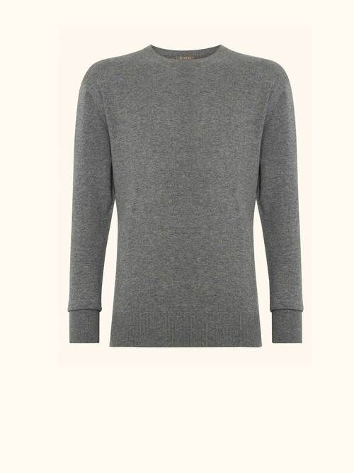 Footaction Sale Online cashmere round neck T-shirt - Grey N.Peal Outlet Cheap Prices Lowest Price Great Deals Cheap Price Classic Sale Online VYkmlLE4J