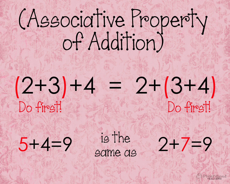 Associative Property Of Addition Poster Math Properties Teaching Math Properties Of Addition [ 2400 x 3000 Pixel ]