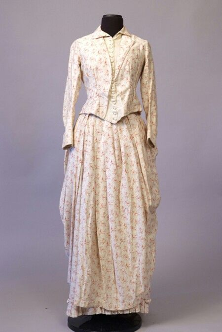 White printed cotton dress