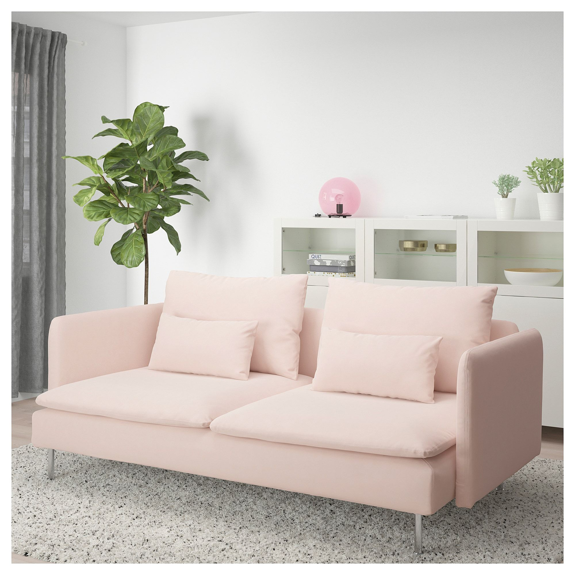 SÖDERHAMN Sofa - Samsta light pink | Sofa, Ikea ...