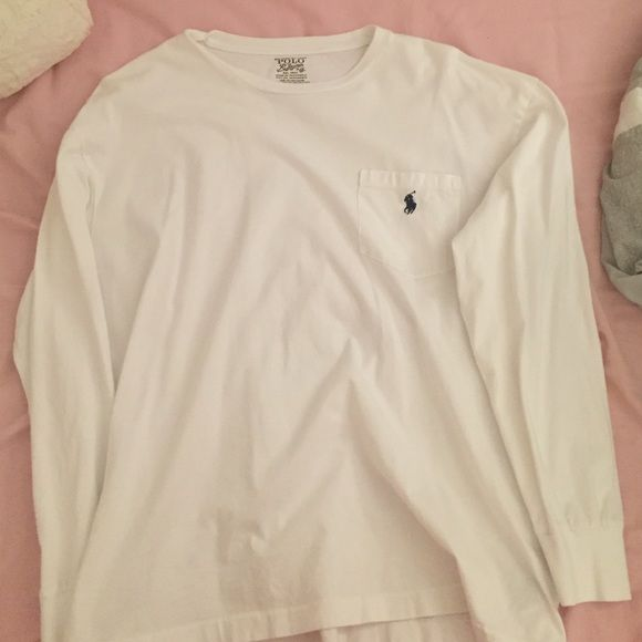 Polo longsleeve shirt Worn a few times, perfect condition! Polo by Ralph Lauren Tops Tees - Long Sleeve