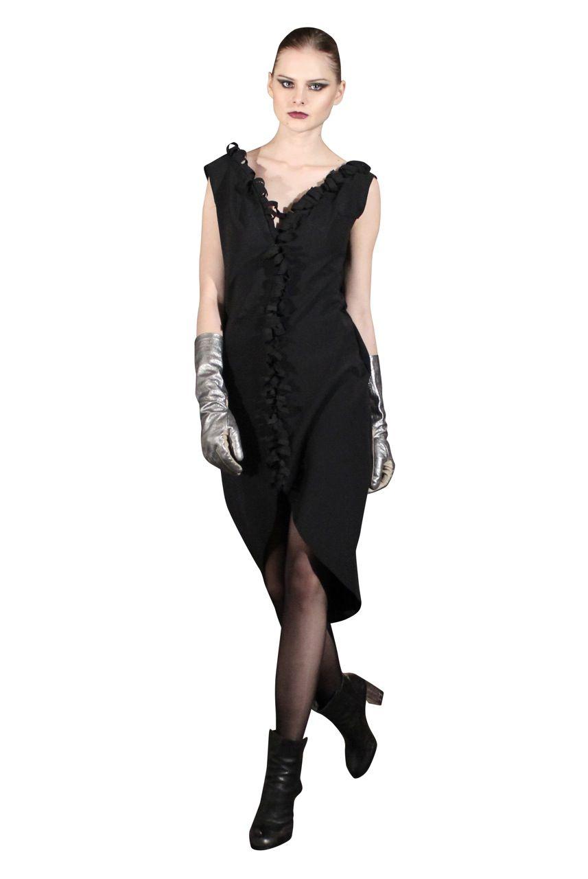 Yan To neoprene split dress.