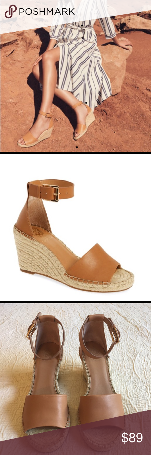 9fd4dfc05a Vince Camuto Leera Wedge Espadrilles Tan Sandals This is a beautiful pair  of Leera wedge espadrille