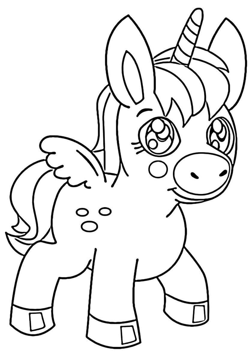 Opening Look High Quality Free Coloring From The Category Unicorn More Printable Pictures On Our Unicorn Coloring Pages Coloring Pages Free Coloring Pages