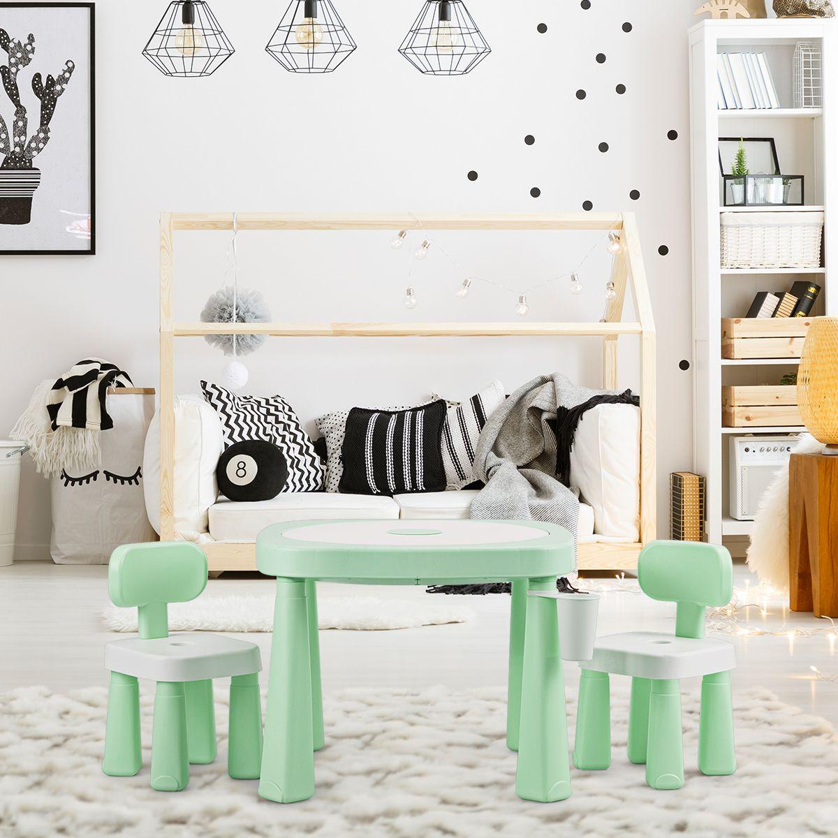 Regalo Per Architetto Femmina 5 in 1 set di tavolo e 2 sedie per bambini tavolo ar