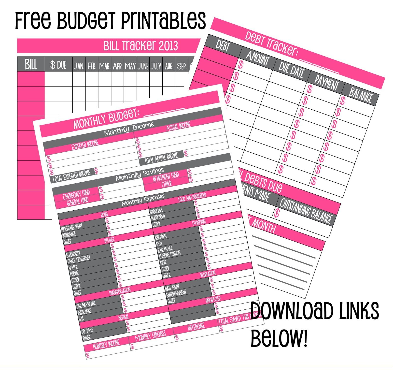 Crazy Beautiful Free Budget Printables I Am Excited To