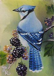 Art: Black & Blue by Artist Paulie Rollins