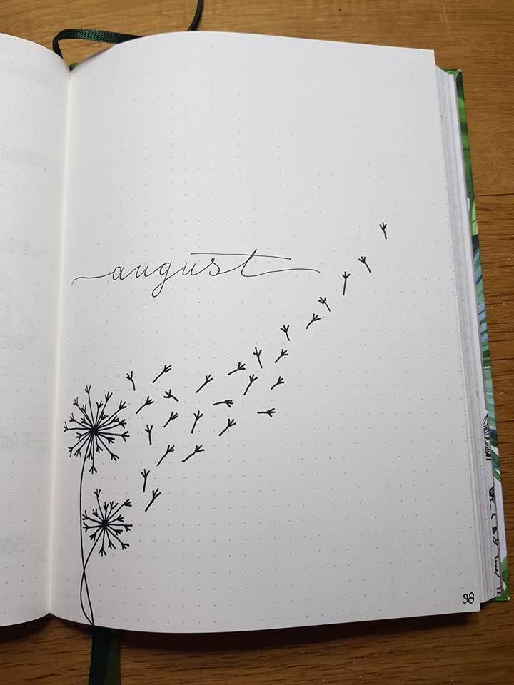 Einfache Bullet-Journal-Ideen zur Organisation und Beschleunigung Ihrer ehrgeizigen Ziele #augustbulletjournal