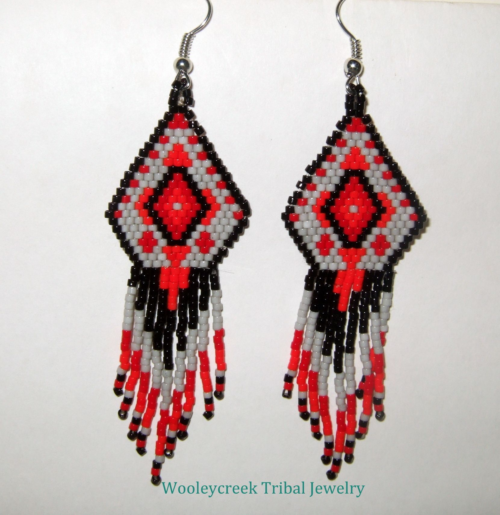 navajo bead designs. Taken From The Colors And Designs Of Ancient Navajo Rug Patterns, These Beaded Earrings Were Bead N
