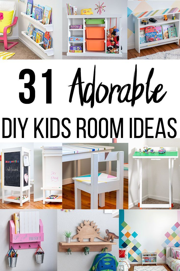 31 Adorable Diy Kids Room Ideas You Need To See Diy Kids Room Decor Kids Room Furniture Room Diy