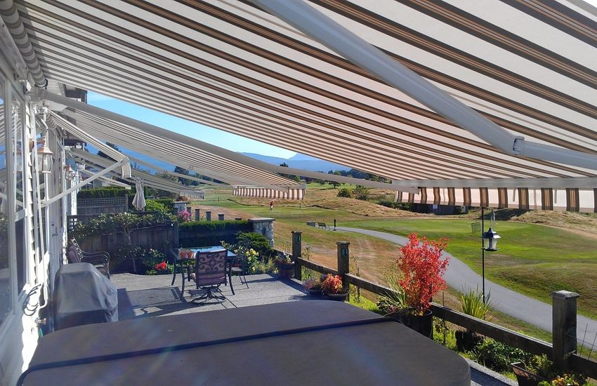 Adalia X3m And Drop Arm Rolltec Retractable Awnings Toronto Ontario Canada Retractable Awning Awning Residential