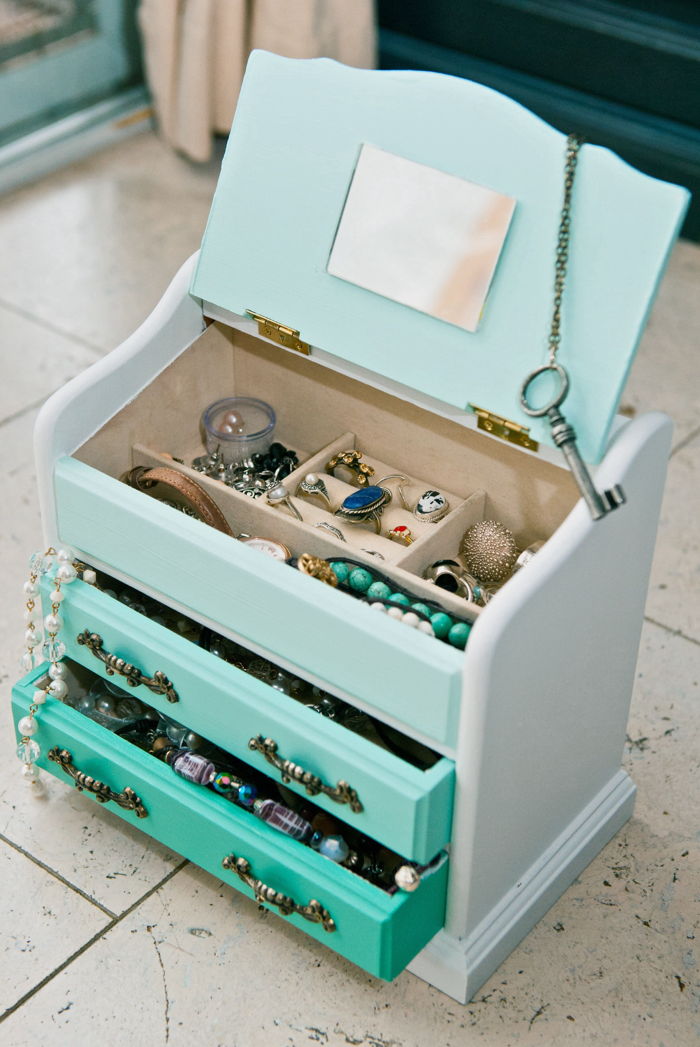 Have An Old Box Well Turn It Into A Cute Jewelry Box Http